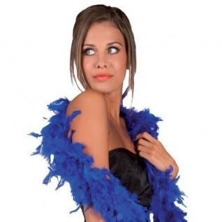 FEDERBOA, blau ca. 180 cm PREISHIT Show Mottoparty Damen Federschal