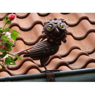 EULE Dachrinnen- & Zaunfigur Kupferlook Blickfang Metall Dach Zaun Figur