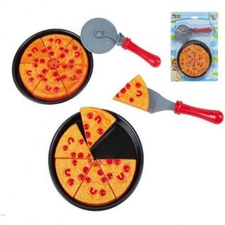Pizza Spiel Set zum schneiden für Kinder Küche Kaufladen Lebensmittel #47456 - Vorschau