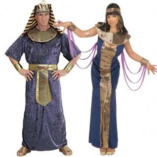 Damen Herren Partner Kostüm NOFRETETE TUTANKHAMEN Pharao Pharaonin Cleopatra
