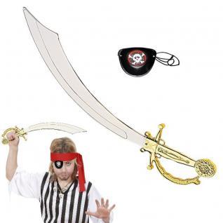 Piratenschwert (47cm) mit Augenklappe Pirat Schwert - NEU Kostüm Zubehör #3082
