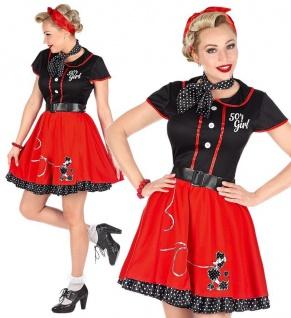 ROCKABILLY PETTICOAT KLEID 38/40 (M) Damen Kostüm Partykleid Cocktailkleid #4836