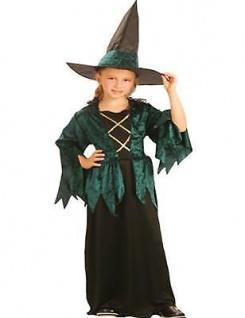 Kinder Kostüm Hexe Gothic Witch 4 - 6 Jahre Halloween Hexenkostüm