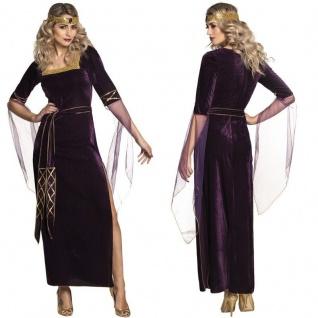 Mittelalter Damen Kostüm Eleonor Burgfrau Lady Freifrau Hofdame Kleid Samtlook