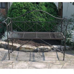 Gartenbank Metall bronze Parkbank Terrasse Deko Gartenmöbel Sitzbank #4221