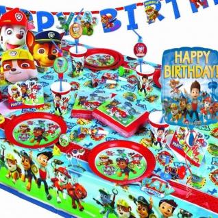 PAW PATROL Kinder Geburtstag Motto Party - RIESEN AUSWAHL - Hund Party Deko