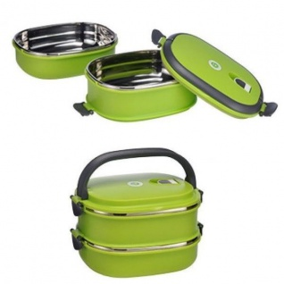 Thormo Lunchbox Kunststoff - Edelstahl 18, 5x14x13 cm Vesperdose Brotdose