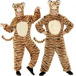 DELUXE TIGERKOSTÜM Damen und Herren Kostüm Tiger Plüsch Tierkostüm S, M/L, XL