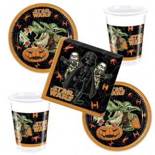 52 tlg. Star Wars HALLOWEEN Party Set 16 x Becher 16 x Teller 20 x Servietten