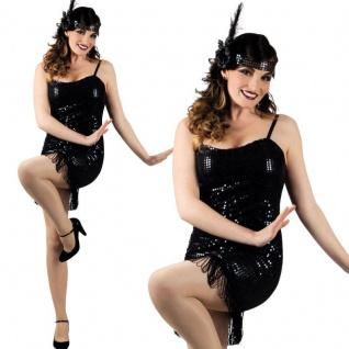 2 tlg. Charleston Kostüm Gatsby 20er Jahre Flapper Kleid Partykleid Fransenkleid