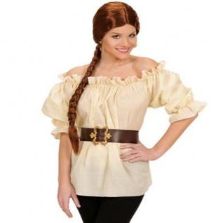 Piratenbluse beige Gr. M/L 38-42, XL 46-48 Piratin Pirat Bluse Karneval Fasching