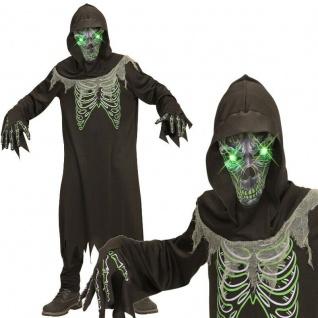 Sensenmann Dämon Tod mit leuchtenden Augen Gr. 158 Kinder Kostüm Halloween #7898