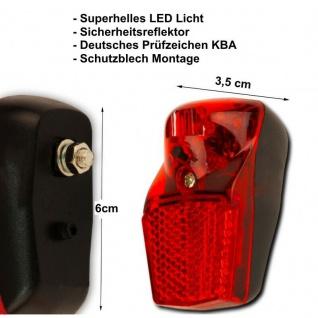 Filmer LED Fahrrad Rücklicht Schutzblech Beleuchtung Batterie Akku Lampe hinten