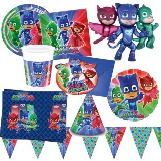PJ MASKS Pyjamahelden Kinder Geburtstag Party -RIESENAUSWAHL- Teller Becher