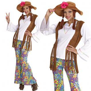 60er 70er Jahre Hippie Damen Kostüm Flower Power Peace Schlagermove Gr. S - XL