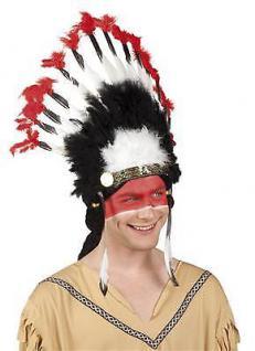INDIANER MOHAWK Federkopfschmuck Häuptling Zubehör Kostüm Western