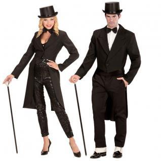 FRACK schwarz lang Partner Kostüm Damen und Herren - Hochzeit JGA Karneval