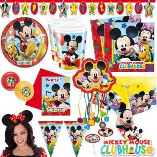 MICKY MAUS Alles zum Kindergeburtstag Party Deko Mickey Mouse Minnie Geburtstag