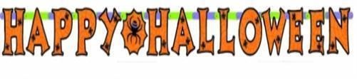 HALLOWEEN Girlande - Happy Halloween - PARTY DEKORATION