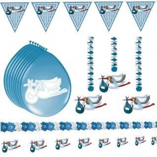 Deko-Paket Geburt Taufe Junge Baby Party Set Freudiges Ereignis Baby -Set 3-