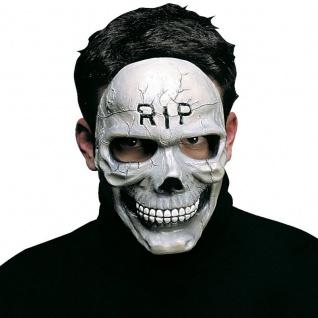 Halbmaske R.I.P Totenkopf Halloween Karneval Fasching Maske Gesicht
