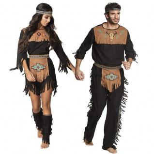 Indianerin Indianer Häuptling Squaw Apache Partner Kostüm für Damen und Herren