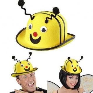 MELONE BIENE Filz Bienenhut Bienen Melone Hut Biene Kostüm Zubehör 091