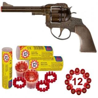 Western SUPER COWBOY Pistole + 720 Schuss Kinder Spielzeug Revolver METALL