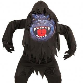 Scary GORILLA Kinder Kostüm Gr. 158 (11-13 Jahre) Big Face Halloween Karneval