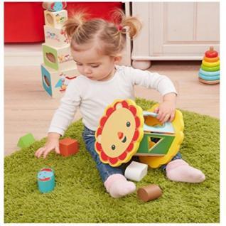 Happy People 41224 Fisher-Price Holz Steckspiel Puzzle für Kinder ab 12 Monate