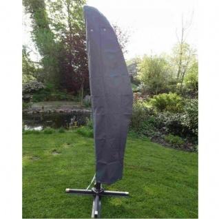 Premium Schutzhülle für Ampelschirm grau Abdeckung Sonnenschirm Wetterschutz #34