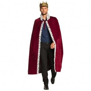 Königs König Mantel für Erwachsene Umhang Cape 130cm Königsumhang Kostüm #6101