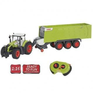 Claas ferngesteuerter Traktor Axion 870 + Anhänger Cargos 9600 Trecker Trekker