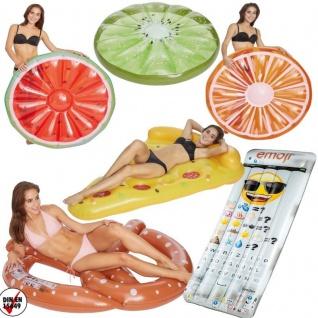 XXL Luftmatratze Schwimminsel Badeinsel Floater Schwimmring Pizza Donut Kiwi