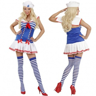 Sexy Matrosin Damen Kostüm - NEU Kleid Sailor Girl Marina Karneval Fasching