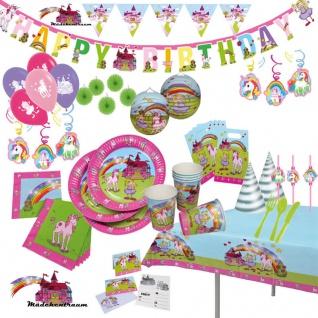Auswahl* Mädchentraum Einhorn*Partyartikel Kinder Geburtstag Teller Becher