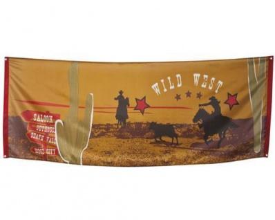 BANNER WILD WEST 74 x 220 cm Deko Wilder Westen Cowboy Indianer Flagge
