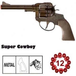 Western Super Cowboy Pistole 12-Schuss Metall Revolver Kinder Spielzeug Sohni W