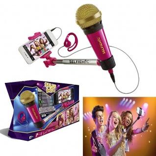 IMC Toys Mikrofon und Selfiestick - Selfie MIC PINK - Karaoke ab 8 Jahre