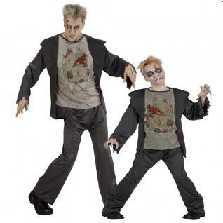 ZOMBIE Partner Kostüm für Herren und Kinder - Halloween Horror grim Reaper