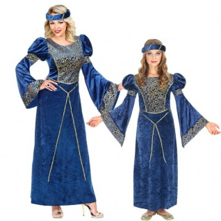Elegantes Renaissance Partner Kostüm Kleid Kinder Damen Baronin Barock Rokoko