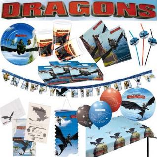 DRAGONS Drachenzähmen Kindergeburtstag Geburtstag Party Teller Becher Ballons