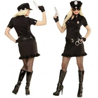 5-tlg Polizistin Polizei Cop Damen Kostüm Uniform Kleid schwarz Gr. 34 bis 44