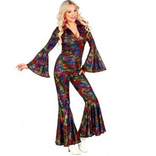 Disco Starlet Queen 70er 80er Damen Kostüm S (34/36) Overall Jumpsuit #5021