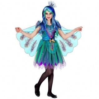 Tolles PFAUENKOSTÜM für Mädchen Pfau Kinder Kostüm - Karneval Fasching - NEU