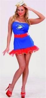 Kostüm Navy Girl Kleid und Gürtel Größe M Karneval Fasching