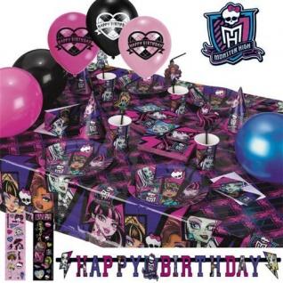 Monster High 2 Geburtstag Motto Party Deko Set Kinder Geburtstag Halloween