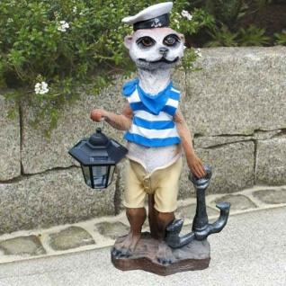 Erdmännchen Matrose mit Anker und Laterne 62cm Hoch Garten Deko Figur #595