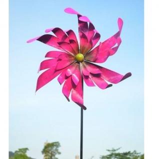 "WINDRAD Windspiel Metall pink "" SHINY"" 47x15x172cm Garten Deko"