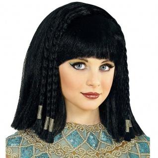 Ägypterin Cleopatra Mädchen Kinder Perücke Königin Karneval Kostüm Zubehör #9631
